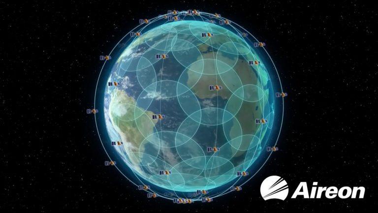 Aireon sateliitti verkosto kartalla