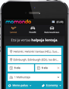 Momondo mobile app